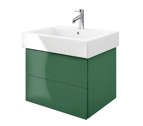 Duravit Delos 2 Drawers Jade High Gloss Unit With Vero 700mm Basin