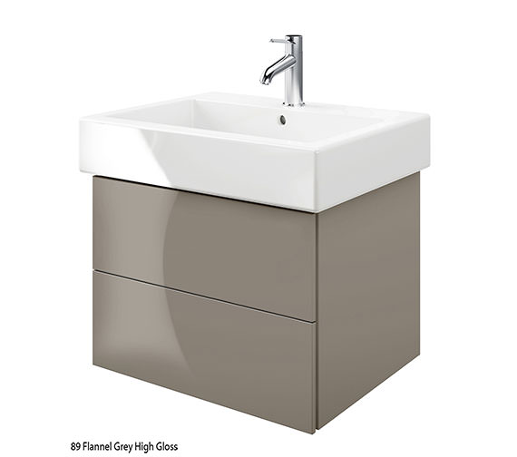 Alternate image of Duravit Delos 2 Drawers Jade High Gloss Unit With Vero 700mm Basin