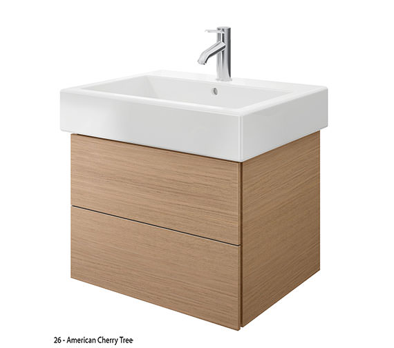 Alternate image of Duravit Delos 2 Drawers Brushed Oak Unit With Vero 700mm Basin