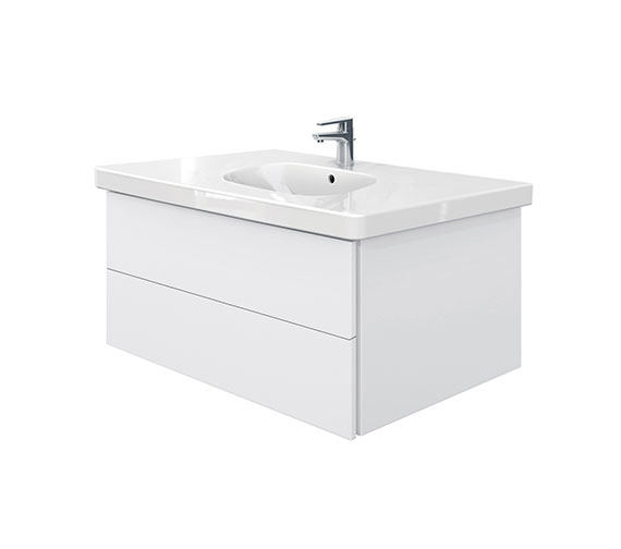 Duravit Delos 2 Drawers Unit With D-Code 1050mm Basin - White Matt