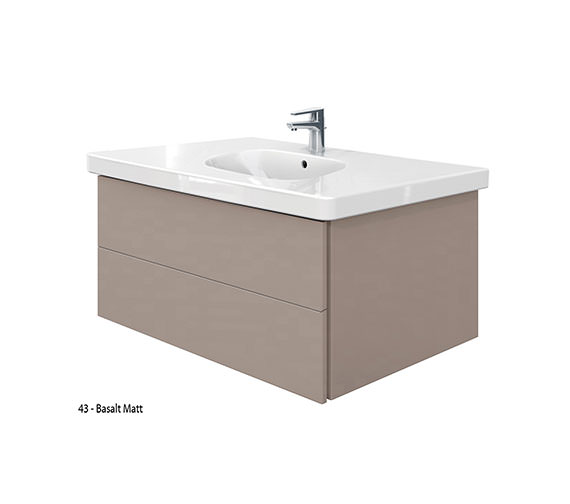 Additional image of Duravit Delos 2 Drawers Unit With D-Code 1050mm Basin - White Matt