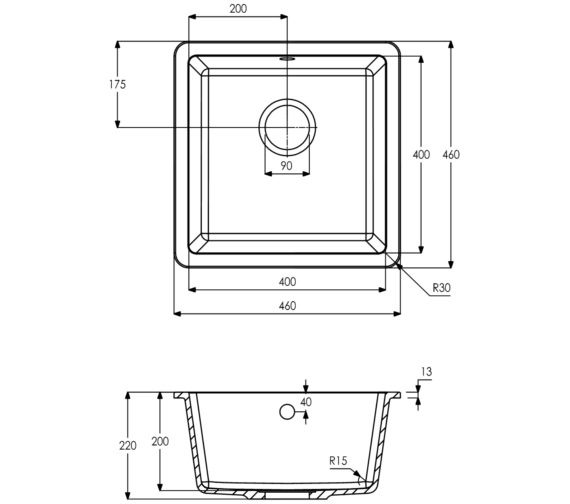 Technical drawing QS-V8249 / AW3125