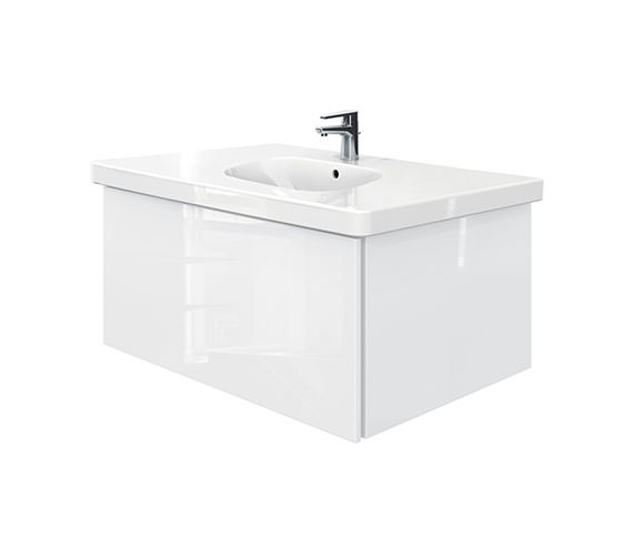 Duravit Delos 1 Compartment Unit With D-Code 1050mm Basin - White High Gloss