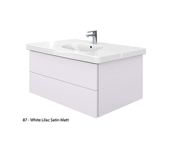 Alternate image of Duravit Delos 2 Drawers Unit With D-Code 1050mm Basin - Jade High Gloss