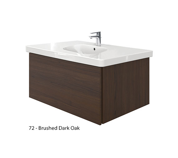 Alternate image of Duravit Delos 1 Compartment Unit With D-Code 1050mm Basin - Brushed Oak