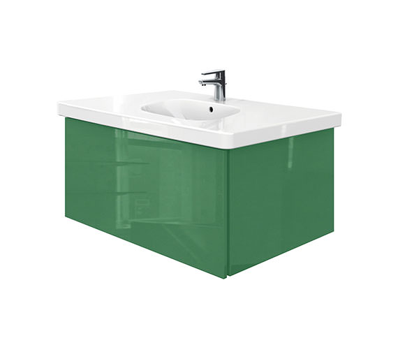 Duravit Delos 1 Compartment Unit With D-Code 1050mm Basin - Jade High Gloss