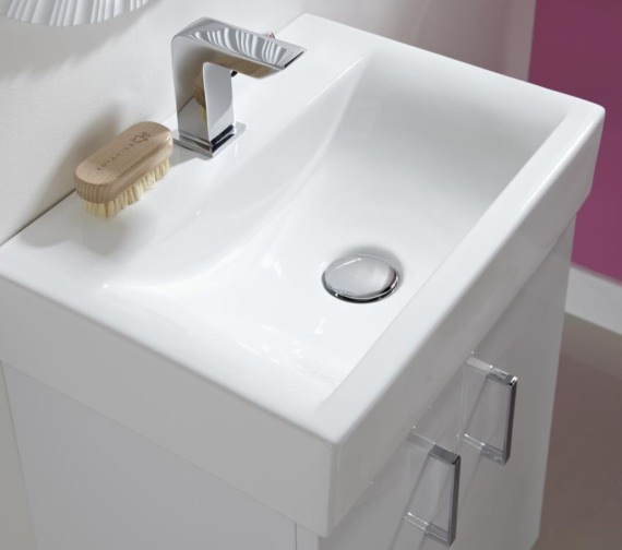 Nuie Premier Checkers 460mm Floor Standing Cabinet And Basin