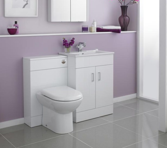 Premier Eden 600mm Floor Standing 2 Door Cabinet With Basin 1