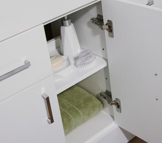 Additional image of Lauren Eden 1000mm 3 Door And 2 Drawer Floor Standing Basin Cabinet