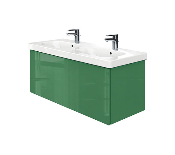 Duravit Delos 1 Compartment Unit With D-Code 1200mm Basin - Jade High Gloss