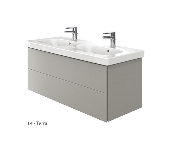 Additional image of Duravit Delos 2 Drawers Unit With D-Code 1200mm Basin - White Matt