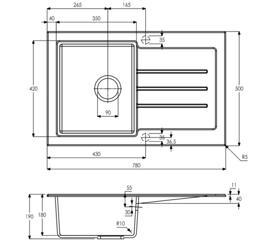 Technical drawing QS-V8705 / AW3122