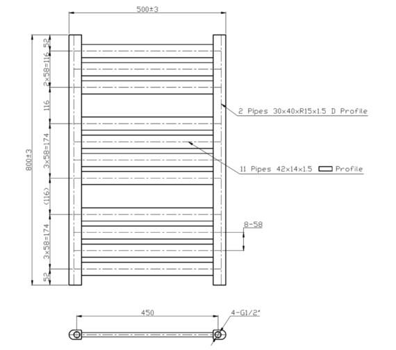 Technical drawing QS-V6597 / RA165