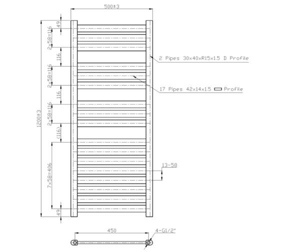 Technical drawing QS-V6598 / RA166
