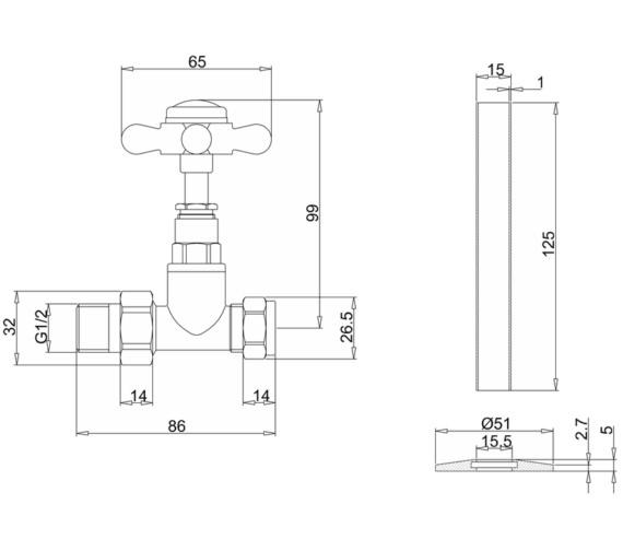 Technical drawing QS-V13473 / R7CHR
