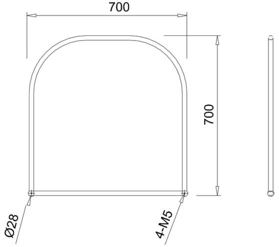 Technical drawing QS-V13475 / A38
