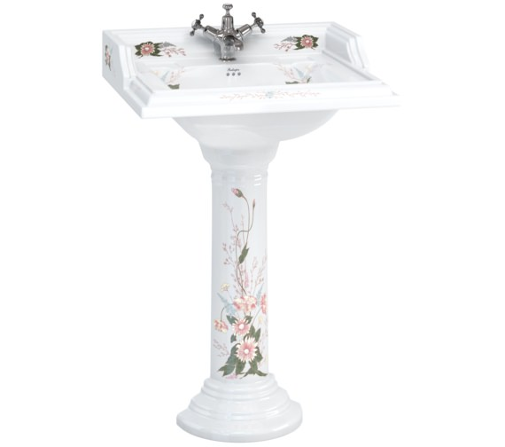 Burlington English Garden Classic 650mm Rectangular Basin And Pedestal