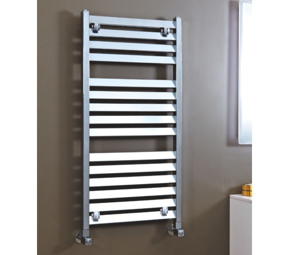 Phoenix Louvre 500 x 800mm Pre-Filled Electric Radiator Chrome