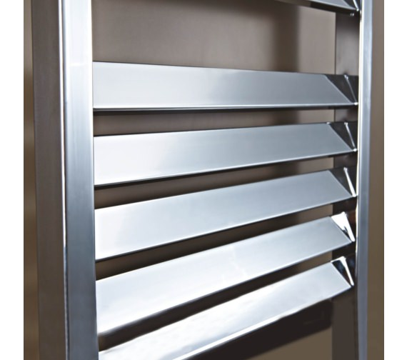 Alternate image of Phoenix Louvre 500 x 800mm Pre-Filled Electric Radiator Chrome