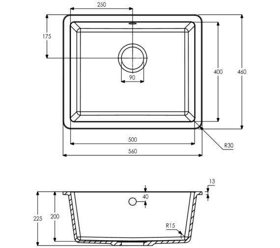 Technical drawing QS-V8710 / AW3127