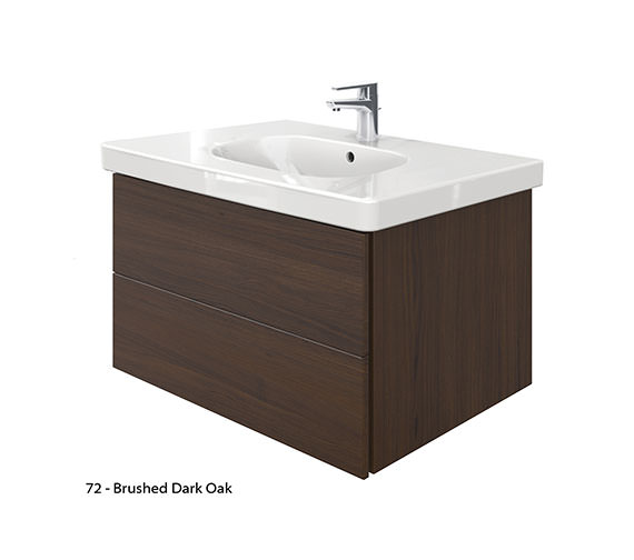 Duravit delos 2 drawers unit with d code 850mm basin - Duravit bathroom furniture uk ...