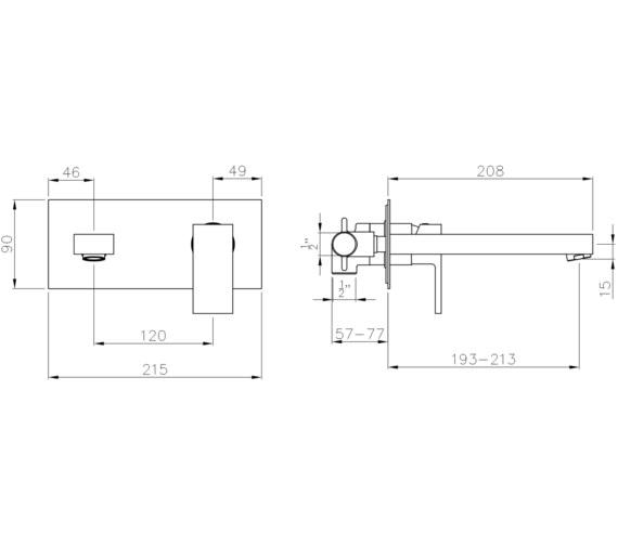 Technical drawing QS-V8536 / AB4031