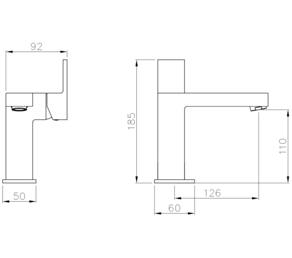 Technical drawing QS-V8537 / AB4032