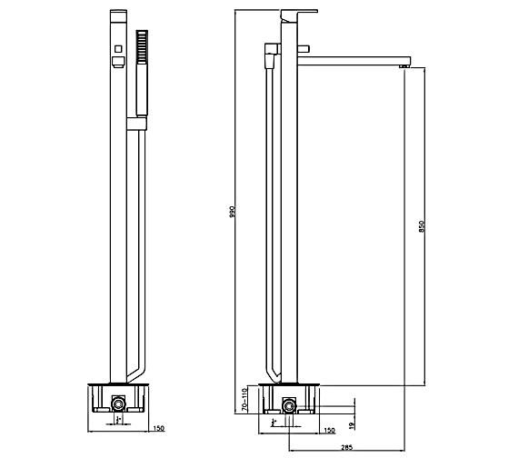 Technical drawing QS-V8538 / AB4034