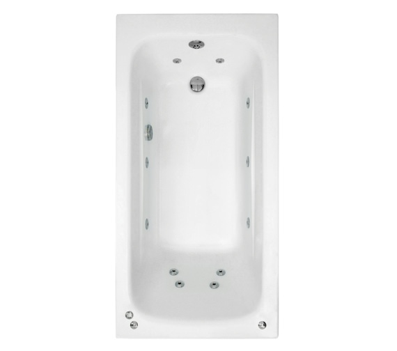 Phoenix Crystal 1400 x 700mm Single Ended Whirlpool Bath