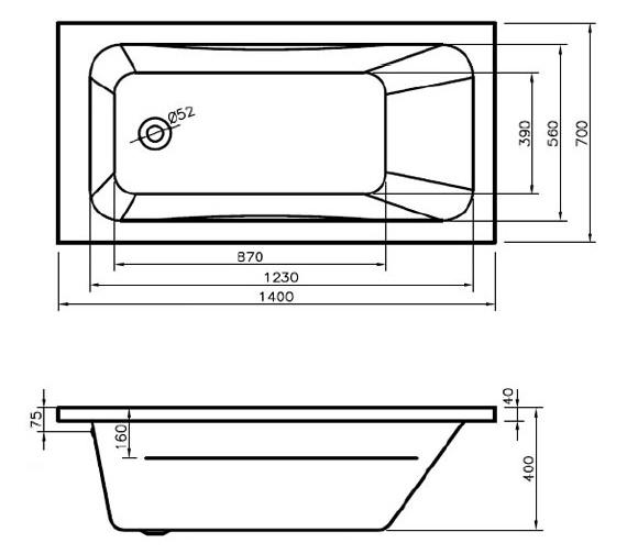 Technical drawing QS-V6491 / BH061S1