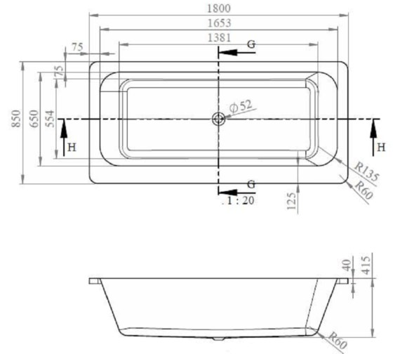 Technical drawing QS-V81382 / BH013C
