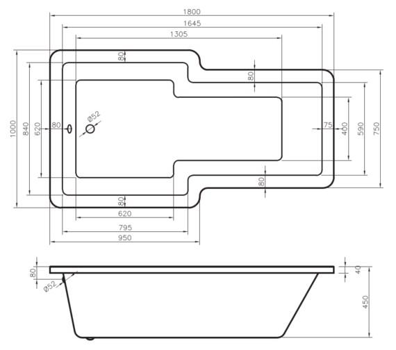 Technical drawing QS-V6502 / BO015C