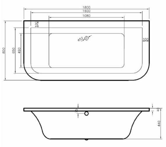 Technical drawing QS-V81390 / BH019S1