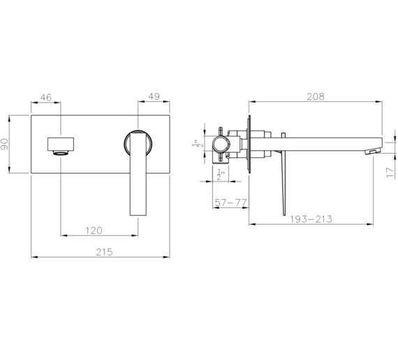 Technical drawing QS-V8553 / AB4082