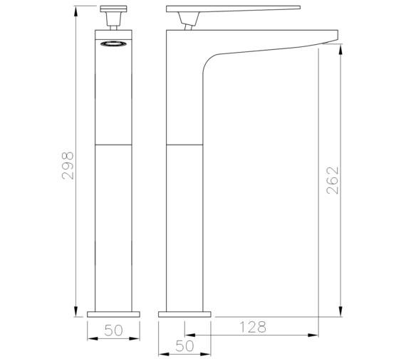 Technical drawing QS-V8552 / AB4081