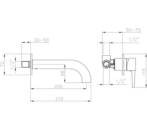 Technical drawing QS-V8544 / AB4046