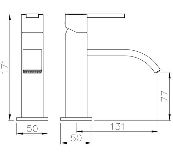 Technical drawing QS-V8545 / AB4050