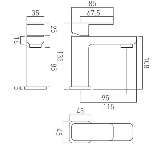 Technical drawing QS-V24399 / PHA-200M/SB-C/P