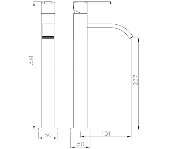 Technical drawing QS-V8546 / AB4051