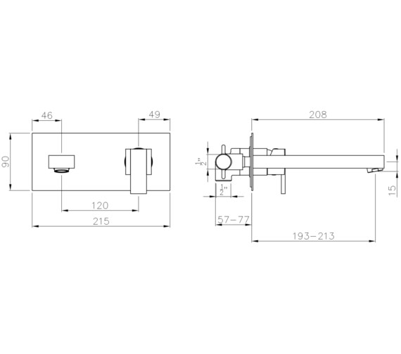 Technical drawing QS-V8547 / AB4052
