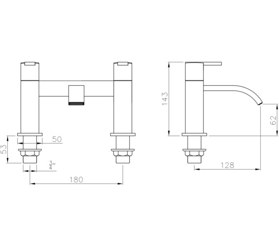 Technical drawing QS-V8548 / AB4053