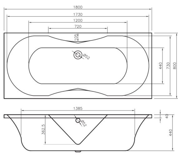 Technical drawing QS-V6487 / BH006S1