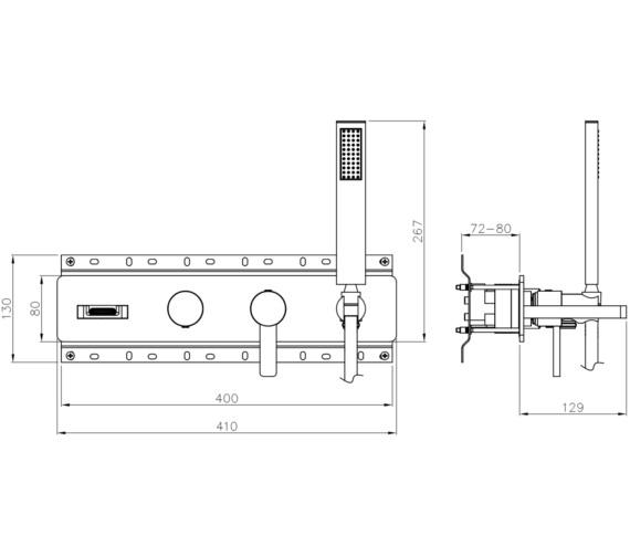 Technical drawing QS-V8562 / AB4095