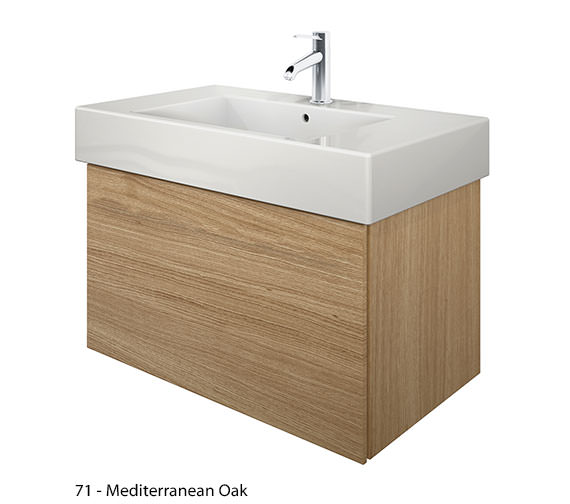 Alternate image of Duravit Delos 1 Compartment Brushed Oak Unit With Vero 850mm Basin