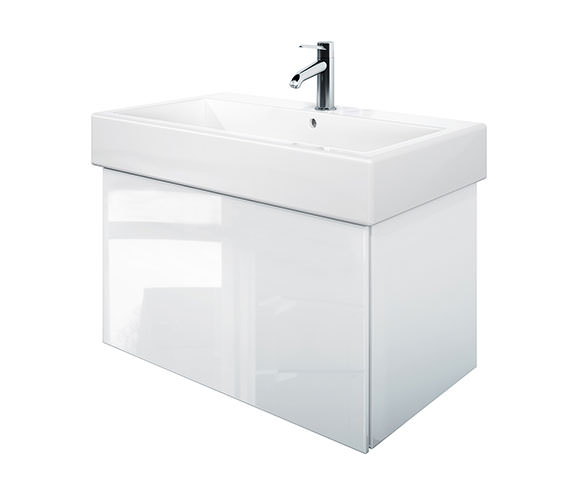 Duravit Delos 1 Compartment White High Gloss Unit With Vero 800mm Basin