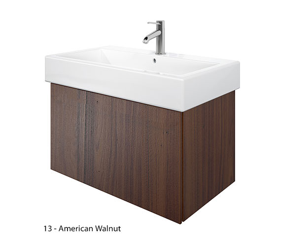 Additional image of Duravit Delos 1 Compartment Brushed Oak Unit With Vero 800mm Basin