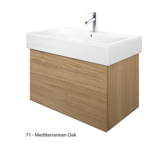 Alternate image of Duravit Delos 1 Compartment Brushed Oak Unit With Vero 800mm Basin