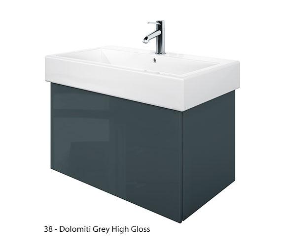 Alternate image of Duravit Delos 1 Compartment Jade High Gloss Unit With Vero 800mm Basin