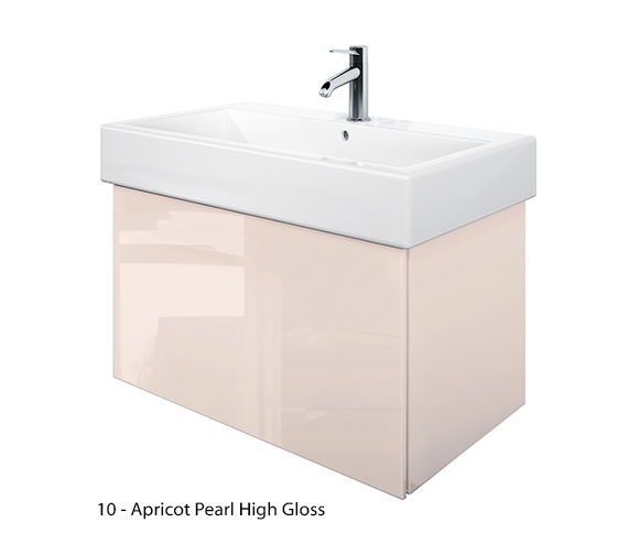 Additional image of Duravit Delos 1 Compartment Jade High Gloss Unit With Vero 800mm Basin