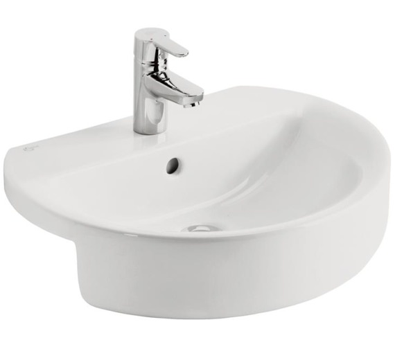 Ideal Standard Concept Sphere 550mm 1 Taphole Semi-Countertop Washbasin